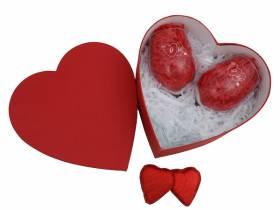 Konsept Hediye Kutusu - Kırmızı Kalp Kutulu