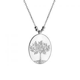 Hayat Ağacı Desenli Gümüş Kolye