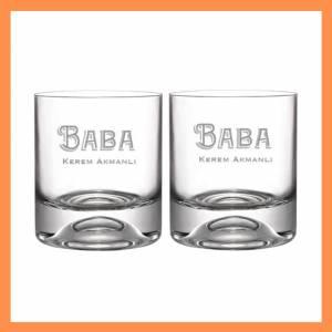 Babaya Hediye - İkili Viski Bardağı - İsme Özel