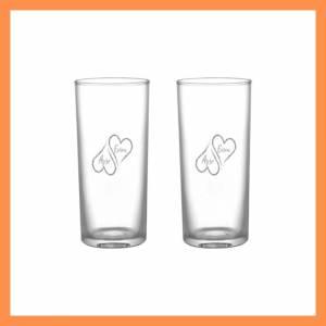 Kalp Desenli ikili Viski Bardağı