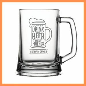 Arkadaş Temalı İsme Özel Bira Bardağı
